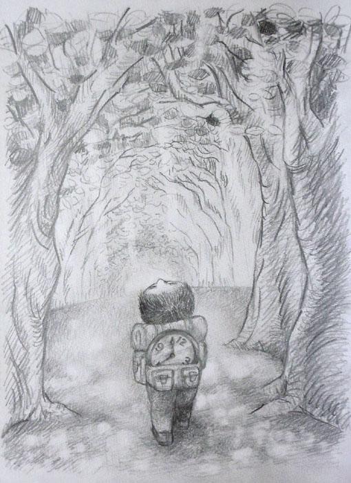 木漏れ日と旅人.jpg